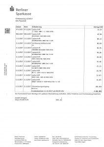 Kontoauszüge Sparkasse