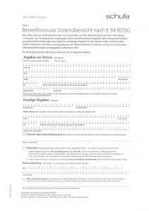 Schufa Auskunft Seite 1