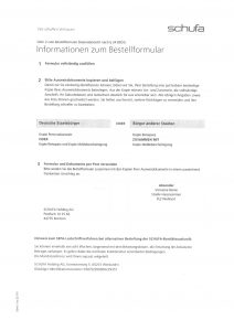 Schufa Auskunft Seite 2
