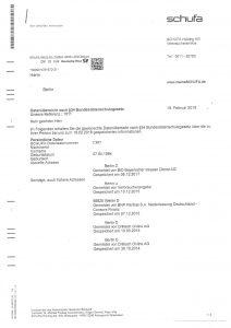 Schufa Auskunft Seite 3